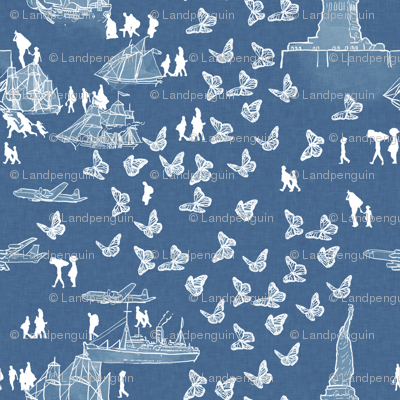 A Nation of Immigrants on Light Blue