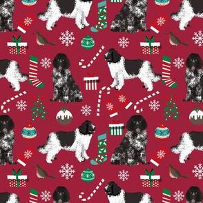 newfoundland christmas fabric dog xmas holilday christmas fabric dogs fabric landseer dog newfoundlands