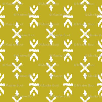 Monochrome tribal navajo aztec indian summer ethnic print ochre mustard yellow