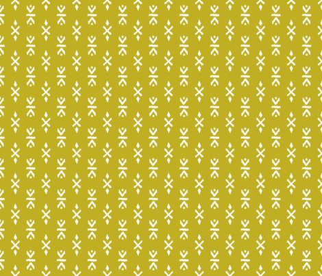 Monochrome tribal navajo aztec indian summer ethnic print ochre mustard yellow fabric by littlesmilemakers on Spoonflower - custom fabric