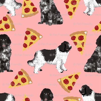 newfoundland pizza fabric landseer dog design newfoundlands fabric design cute dogs black and white dog