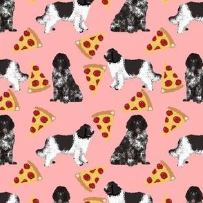 newfoundland pizza fabric landseer dog design newfoundlands fabric design cute dogs black and white dog