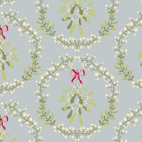 Mistletoe_wreath_fond_gris_L