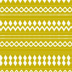 Monochrome tribal aztec indian summer ethnic print ochre yellow