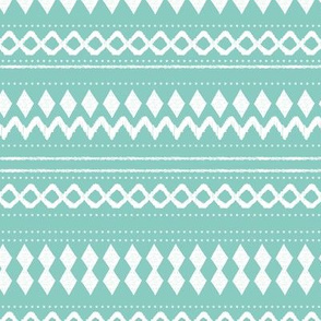 Monochrome tribal aztec indian summer ethnic print mint