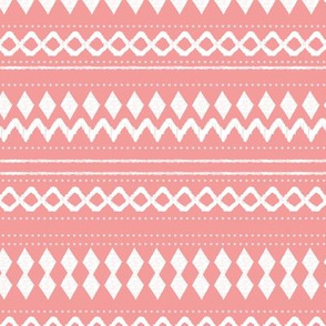 Monochrome tribal aztec indian summer ethnic print pink