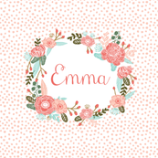 "custom name block - 8"" square girls custom name fabric"