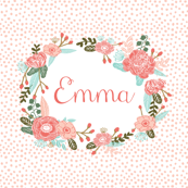 custom name fabric girls name blanket one yard cut