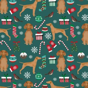 vizsla christmas dog design christmas dog fabric vizslas fabric dog design