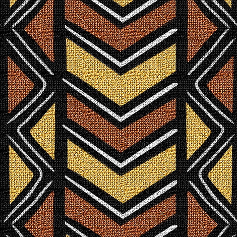 Mudcloth Inspired Diamonds and Chevrons fabric by eclectic_house on Spoonflower - custom fabric