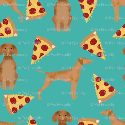 vizsla pizza fabric dog fabric dogs pizza design vizslas fabric