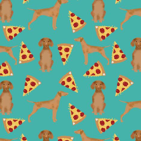 vizsla pizza fabric dog fabric dogs pizza design vizslas fabric  fabric by petfriendly on Spoonflower - custom fabric