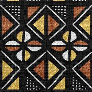mudcloth inspired dots diamonds and cowrie shells