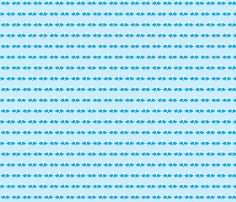 love-birds-blue-small fabric by het on Spoonflower - custom fabric
