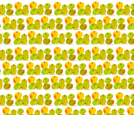 apples fabric by kimmurton on Spoonflower - custom fabric