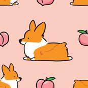 Corgi Peach Sploot Emoji