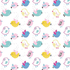 Little Birds - bright mix