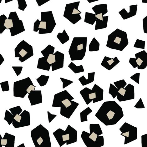 animal_print__black_white_beige fabric by emilyhamiltonillustration on Spoonflower - custom fabric