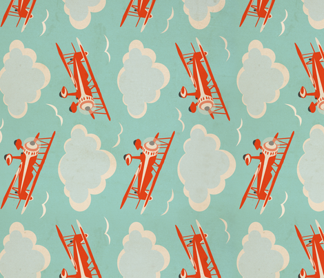 Flying Ace Railroad fabric by cheyanne_sammons on Spoonflower - custom fabric