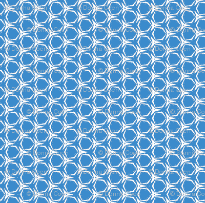 Honeycomb In Blue