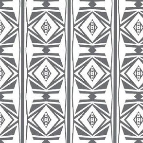 Tribal White & Gray