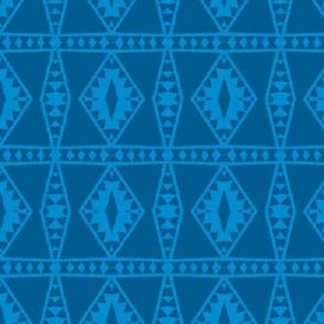 Tribal Blue Monochrome