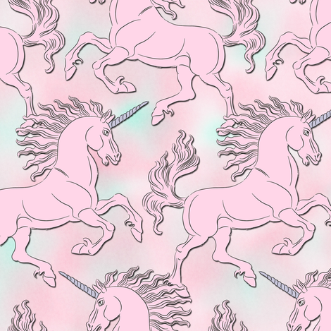 pink_unicorn fabric by susiprint on Spoonflower - custom fabric