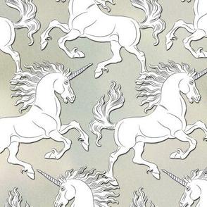 White Unicorn on beige