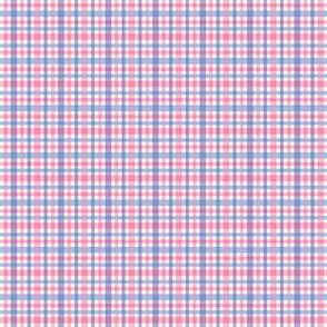 Pink Blue Plaid