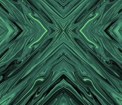 Liquid Bluegreen Diamonds, Large fabric - maryyx