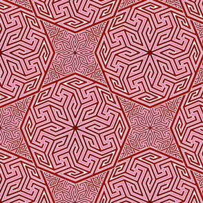 Arabian Abstract in reds