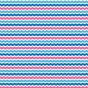 pink blue waves