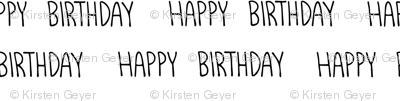 Happy Birthday - Handwritten text