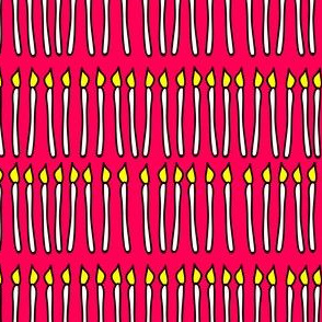 Birthday Candles - pink