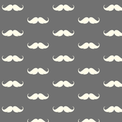 moustache reverse, grey and cream hipster mo