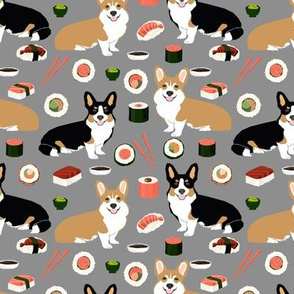corgi sushi fabric corgis fabric dog corgi fabric sushi dog design dogs salmon fabrics corgi dog