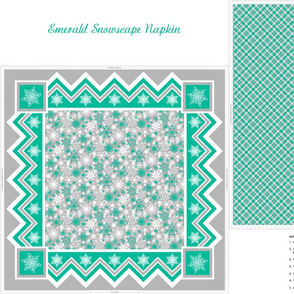 Emerald Snowscape Napkin