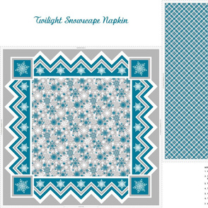 Twilight Snowscape Napkin