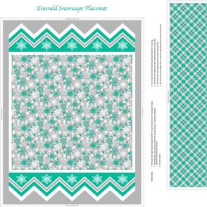 Emerald Snowscape Placemat