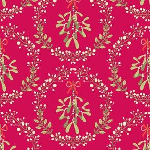 Mistletoe_wreath_fond_rouge_M