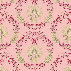 Mistletoe_wreath_fond_saumon_M
