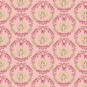 Mistletoe_wreath_fond_saumon_S