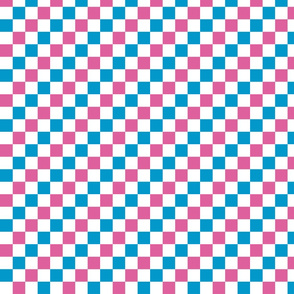 Pink and Blue Checkers