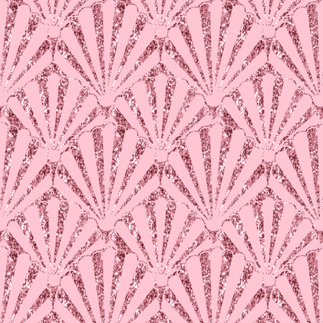 Pink Shell Seashell Glitter /Pink fabric by magentarosedesigns on Spoonflower - custom fabric
