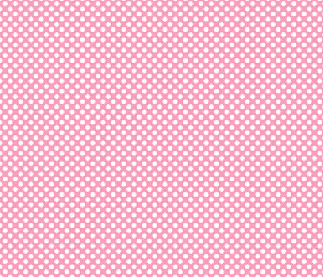 Pink polka dot fabric by magic_pencil on Spoonflower - custom fabric