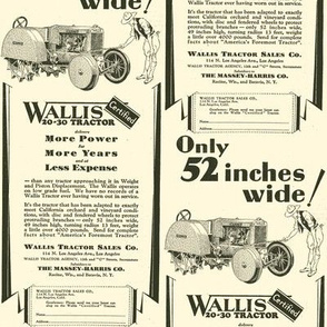 1929 Wallis Certified orchard or vineyard tractor