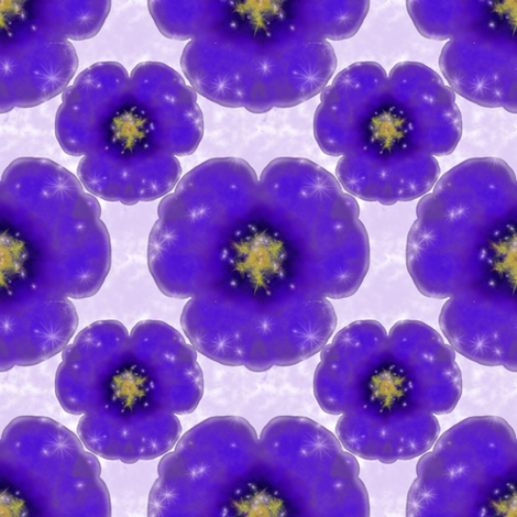 Magical Purple Flower fabric by flutterbi on Spoonflower - custom fabric