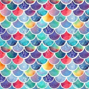 Rainbow Watercolour Scales