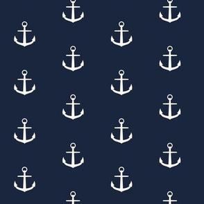 Anchor nautical in navy sea