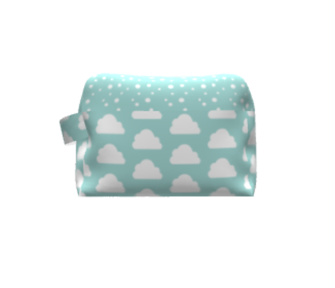 Cute Small Clouds / Geometric Baby Nursery Dreams in the Scandinavian Sky Pale Turquoise / Mint
